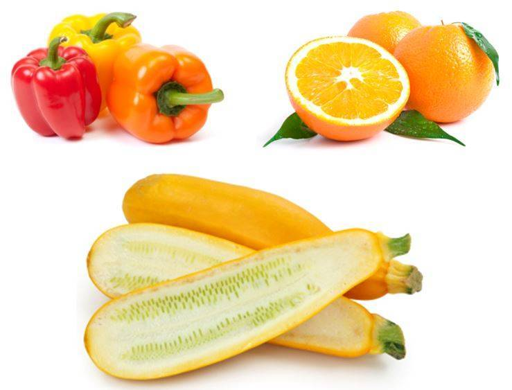 yellow-orange produce