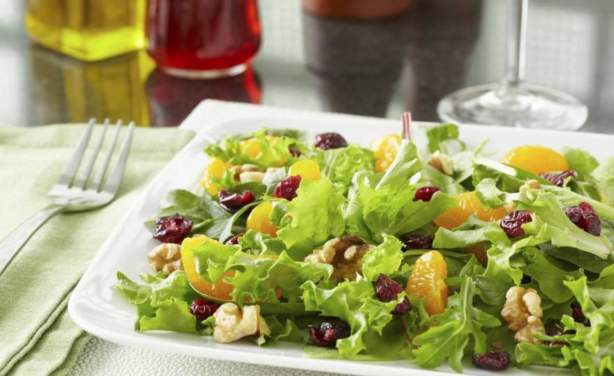 Red Leaf, Apple & Orange Salad